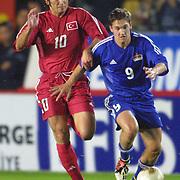 Turkish soccer National team.<br /> Turkey between Liechtenstein match. Turkey's Ilhan Mansiz during their in AliSamiYen Stadium Istanbul/TURKEY .<br /> Photo by Aykut AKICI/TurkSporFoto