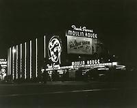 1955 Moulin Rouge Nightclub at night