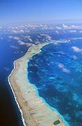 Outer coral reef, Bora Bora, French Polynesia