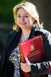 Secretary of State for Northern Ireland Karen Bradley arrives at 10 Downing Street to attend the weekly cabinet meeting.