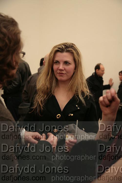 Sarah Baker, Planit- Exhibition of work by Ian Munroe. Haunch of Venison. London. 1 March 2007.  -DO NOT ARCHIVE-© Copyright Photograph by Dafydd Jones. 248 Clapham Rd. London SW9 0PZ. Tel 0207 820 0771. www.dafjones.com.