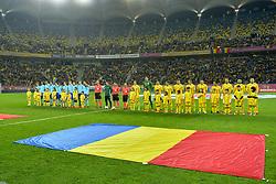 November 14, 2017 - Bucharest, Romania - Romania's team (R) and Netherlands national team pose before the International Friendly match between Romania and Netherlands at National Arena Stadium in Bucharest, Romania, on 14 november 2017. (Credit Image: © Alex Nicodim/NurPhoto via ZUMA Press)