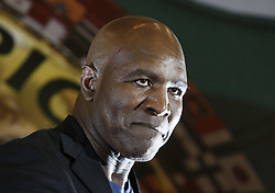 October 2, 2018 - Kiev, Ukraine - Former Boxing Champion EVANDER HOLYFIELD attends an authographs session for supporters during the 56th World Boxing Convention in Kiev, Ukraine, on 2 October 2018.The WBC 56th congress in which take part boxing legends Evander Holyfield,Lennox Lewis, Eric Morales and about 700 participants from 160 countries runs in Kiev from from September 30 to October 5. (Credit Image: © Serg Glovny/ZUMA Wire)