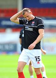 William Boyle of Cheltenham Town prior to kick-off - Mandatory by-line: Nizaam Jones/JMP - 12/09/2020 - FOOTBALL - Jonny-Rocks Stadium - Cheltenham, England - Cheltenham Town v Morecambe - Sky Bet League Two