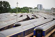 Nederland, Nijmegen, 28-6-2012Op het spoorwegemplacement bij het station van de N.S. staan treinstellen die op dat moment niet nodig zijn.Foto: Flip Franssen/Hollandse Hoogte