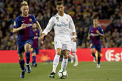 May 6, 2018 - Barcelona, Catalonia, Spain - Ivan Rakitic vies with Cristiano Ronaldo during the spanish football league La Liga match between FC Barcelona and Real Madrid at the Camp Nou Stadium in Barcelona, Catalonia, Spain on May 6, 2018  (Credit Image: © Miquel Llop/NurPhoto via ZUMA Press)