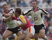 © Intersport Images .Photo Peter Spurrier.12/05/2002.Sport - Rugby League.London Broncos vs Widnes Vikings.Adam Hughes....