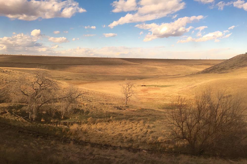 Amtrak Zephyr landscape view, Arvada, Colorado