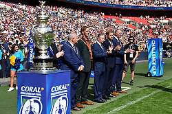 August 24, 2019, London, London, United Kingdom: Image licensed to i-Images Picture Agency. 24/08/2019. London, United Kingdom.Prince Harry, the Duke of Sussex,  at the Rugby League Challenge Cup Final  between St Helens v Warrington Wolves at Wembley Stadium in London. (Credit Image: © Pool/i-Images via ZUMA Press)