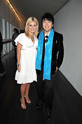 KATHERINE JENKINS and LANG LANG  at the Montblanc de la Culture Arts Patronage Award 2009 held at the Tate Modern, Bankside, London SE1 on 16th April 2009.