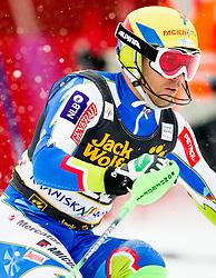 VALENCIC Mitja of Slovenia competes during the 1st Run of 10th Men's Slalom - Pokal Vitranc 2013 of FIS Alpine Ski World Cup 2012/2013, on March 10, 2013 in Vitranc, Kranjska Gora, Slovenia. (Photo By Vid Ponikvar / Sportida.com)