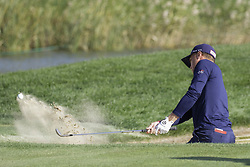 October 22, 2017 - Seogwipo, Jeju Island, South Korea - October 22, 2017-Seogwipo, Jeju Island, South Korea-Justin Thomas of USA putt on the 18th bunker during an PGA TOUR CJ CUP NINE BRIDGE FINAL at Nine Bridge CC in Jeju Island, South Korea. (Credit Image: © Ryu Seung Il via ZUMA Wire)