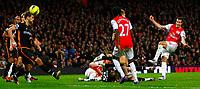 20111227: LONDON, UK - Barclays Premier League 2011/2012: Arsenal vS Wolverhampton Wanderers.<br /> In photo: Robin van Persie of Arsenal misses a chance.<br /> PHOTO: CITYFILES