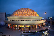 The new Shanghai Circus World building in Shanghai, China. (From the book What I Eat: Around the World in 80 Diets.) The domed building seats more than 1,600 people.