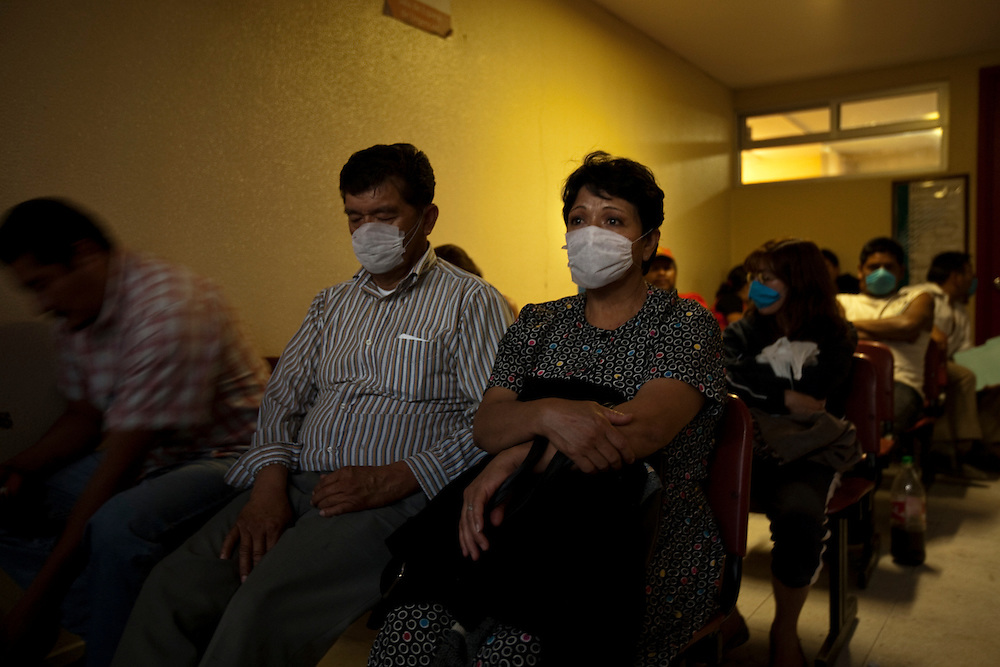 24 April 2009, Mexico City, Mexico--- Patients wait to be treated in the emergancy room of the Iztapalapa General Hospital. Some are waiting to be tested for the deadly swine Flu. Some employees in the hospital, which is located in one of the poorest neighborhoods in Mexico City, are angry that the government did nothing to stop the illness earlier even though young people have been dying of a mysterious illness for two weeks.   --- Image by © Trevor Snapp