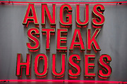 Sign for Angus Steak Houses