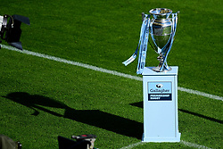 The Gallagher Premiership Rugby Trophy prior to kick off - Mandatory by-line: Ryan Hiscott/JMP - 10/10/2020 - RUGBY - Sandy Park - Exeter, England - Exeter Chiefs v Bath Rugby - Gallagher Premiership Rugby Semi-Final