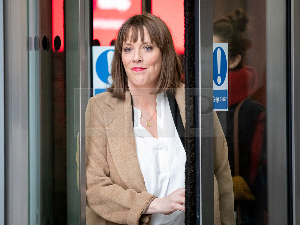 © Licensed to London News Pictures. 05/01/2020. London, UK. Labour Party MP and leadership contender Jess Phillips leaves BBC Broadcasting House.  Photo credit: Rob Pinney/LNP