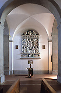 Della Robbia's panel in the main church of Santa Fiora
