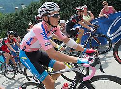 09.07.2015, Drobollach, AUT, Österreich Radrundfahrt, 5. Etappe, Drobollach nach Matrei in Osttirol, im Bild Gregor Mühlberger (AUT, Bester Österreicher) // Best Austrian rider Gregor Mühlberger of Austria during the Tour of Austria, 5th Stage, from Drobollach to Matrei in Osttirol, Drobollach, Austria on 2015/07/09. EXPA Pictures © 2015, PhotoCredit: EXPA/ Reinhard Eisenbauer