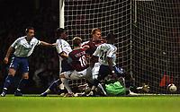 Photo: Tony Oudot.<br /> West Ham United v Chelsea. The Barclays Premiership. 18/04/2007.<br /> Salomon Kalou scores Chelseas third goal