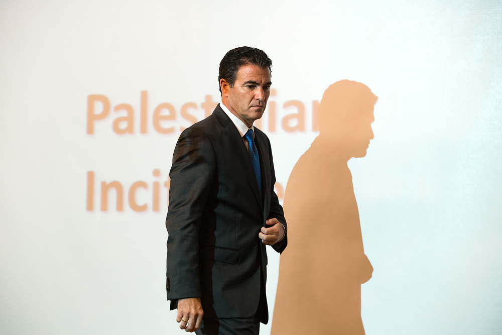 Yossi Cohen, Head of Israel's National Security Council is seen during a press conference at the Ministry of Foreign Affairs in Jerusalem, on October 15, 2015.