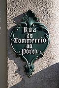 street sign rua do commercio do porto porto portugal