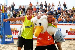 20150830 NED: NK Beachvolleybal 2015, Scheveningen<br />Dirk Boehle en Steven v.d. Velde winnen het NK Beachvolleybal 2015