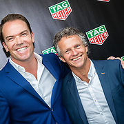 NLD/Amsterdam/20160830 - Nieuw TAG Hauer horloge, Robert Doornbos, en Jan Lammers