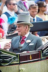 File photo of Prince Philip, the Duke of Edinburgh, pictured at Royal Ascot 2014, at Ascot Racecourse. Picture date: June 20th, 2014. Photo credit should read: Matt Crossick/ EMPICS