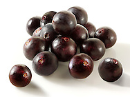 Photos & pictures of the Brazilian acai berries the super fruit anti oxident from the Amazon. Acai berries has been used to help weight loss. Stockfotos & fotos