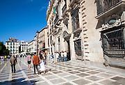 Real Chancilleria, Royal Chancellory building in Plaza Neuva, Granada, Spain