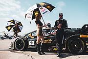 November 11-13, 2020. Lamborghini Super Trofeo, Sebring: 69 William Hubbell, Eric Curran, Wayne Taylor Racing, Lamborghini Greenwich, Lamborghini, Huracan Super Trofeo EVO, Grid girls