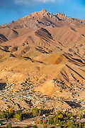 View over Bamyan, Shahr-e Gholghola or City of screams ruins, Bamyan, Afghanistan