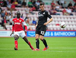 Bristol City's Albert Adomah crosses the ball into the box - Photo mandatory by-line: Dougie Allward/JMP - Tel: Mobile: 07966 386802 27/03/2013 - SPORT - FOOTBALL - Goldsands Stadium - Bournemouth -  Bournemouth V Bristol City - Pre Season friendly