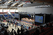 Dresden, GERMANY, General View of the competition area at the European Indoor Rowing Championships, Margon Arena,  15/12/2007 [Mandatory Credit Peter Spurrier/Intersport Images]