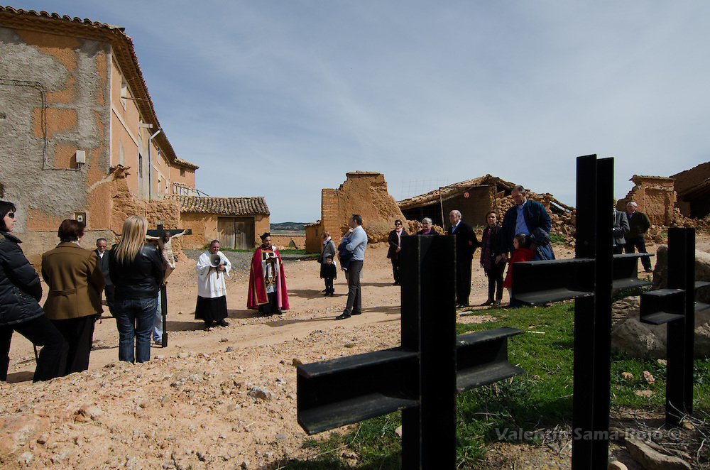 Via Crucis of Cetina (Zaragoza) during one of the Stations of the Cross.