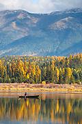 Canoe on Rainy Lake, Montana