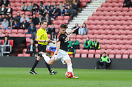 Manchester United U21 Joe Riley shoots at goal during the Barclays U21 Premier League match between U21 Southampton and U21 Manchester United at the St Mary's Stadium, Southampton, England on 25 April 2016. Photo by Phil Duncan.