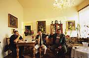Roma family who make a living buying and selling antiques. Bratislava, Slovakia.