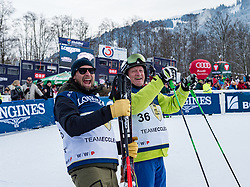 20.01.2018, Hahnenkamm, Kitzbühel, AUT, FIS Weltcup Ski Alpin, Kitzbuehel, Kitz Charity Trophy, im Bild v.l.: Marco Büchel, Franz Klammer // f.l.: Marco Büchel Franz Klammer during the Kitz Charity Trophy of the FIS Ski Alpine World Cup at the Hahnenkamm in Kitzbühel, Austria on 2018/01/20. EXPA Pictures © 2018, PhotoCredit: EXPA/ Stefan Adelsberger