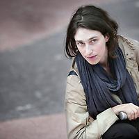 Nederland, Amsterdam , 27 oktober 2009..Tamira Combrink (1982). Tamira wordt door de commissie van Groen Links beoordeeld als een veelbelovend talent.Ze is als kandidaat voor groen Links voorgedragen..Young Tamira Combrink is a new promising talent for the Green Party of The Netherlands.