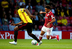 Freddy Hinds of Bristol City takes on Christian Kabasele of Watford - Mandatory by-line: Robbie Stephenson/JMP - 22/08/2017 - FOOTBALL - Vicarage Road - Watford, England - Watford v Bristol City - Carabao Cup