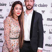 NLD/Amsterdam/20150119 - De Marie Claire Prix de la Mode awards, Silvia van der Klooster en Jan Taminiau