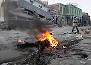Earthquake aftermath in Port-Au-Prince, Haiti, on January 20, 2010..