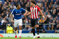 Football - 2021 / 2022 Premier League - Everton vs Southampton - Goodison Park - Saturday 14th August 2021.<br /> <br /> <br /> Everton's Allan  apologises to Southampton's Che Adams following a foul<br /> <br /> <br /> Credit COLORSPORT/Terry Donnelly