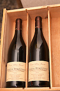 Bottles of Crozes Hermitage Cuvee Alberic Bouvet 2003 from Gilles Robin. Domaine Gilles Robin, Les Chassis, Mercurol, Drome, Drôme, France, Europe