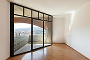Architecture, Interiors of empty apartment, room with windows