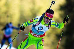 GREGORIN Teja of Slovenia during Women 7.5 km Sprint of the e.on IBU Biathlon World Cup on Thursday, March 6, 2014 in Pokljuka, Slovenia. The first e.on IBU World Cup stage is taking place in Rudno polje - Pokljuka, Slovenia until Sunday March 9, 2014. Photo by Matic Klansek Velej / Sportida