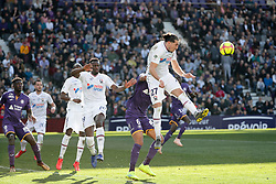 February 24, 2019 - Toulouse, France - 19 MALIK TCHOKOUNTE (CAEN) - 27 ENZO CRIVELLI  (Credit Image: © Panoramic via ZUMA Press)